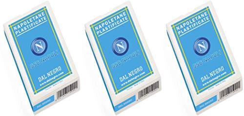 Dal Napoletane SSC Napoli - Carte da gioco italiane (confezione da 3)