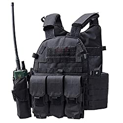 commercial DMAIP Hunting Mall Tactical Vest Combat Safety Training Tool Case Modular Protection Durability… top 10 plate carriers
