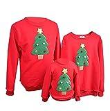 Sudadera Navidad Jersey Navideño Sudaderas Navideñas Familiares Niño Niña Sueter Hombre Mujer Reno Sweaters Estampadas Pullover Cuello Redondo Largas Chica Chico Invierno Anchas Basicas (F, 1-2 años)