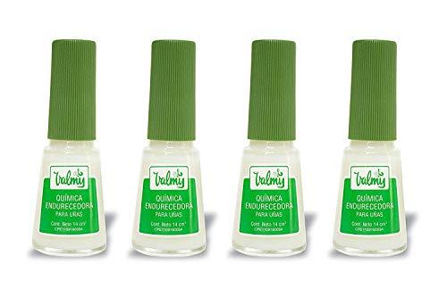 Endurecedor de uñas Valmy Química Endurecedora - Tratamiento fortalecedor y protector para uñas extra fuertes - Pack of 4-14 ml c/u
