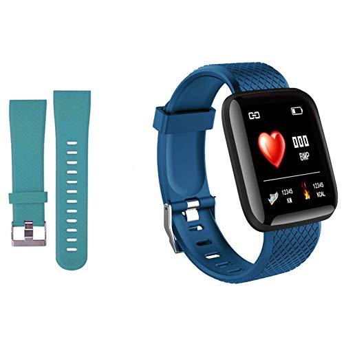 Smartwatch Fitness Armband Voll Touchscreen Wasserdicht, Unisex Smart Watch für Android IOS, Fitness Uhr mit Pulsmesser Schlafmonitor Stoppuhr Musiksteuerung,Sportuhr Aktivitätstracker (Blau grün)