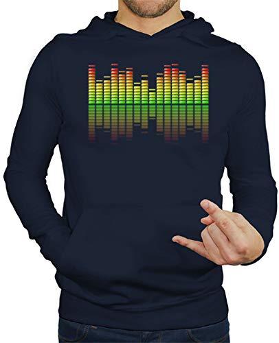 latostadora - Jersey Ecualizador Musical para Hombre Azul Marino XXL