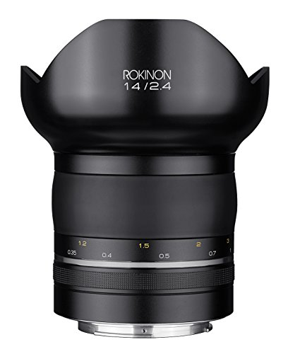 Rokinon Special Performance (SP) 14mm F2.4 Ultra Wide Angle Lens with Built-in AE Chip for Canon EF