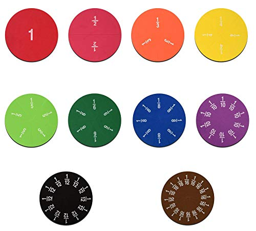 Juego de baldosas y círculos de espuma suave magnética, recursos educativos matemáticos para preescolar, aprender a contar, manipulaciones de fracción matemática