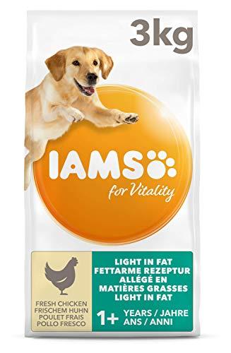 IAMS For Vitality Light in Fat Cibo Secco per Cani Adulti con Pollo Fresco a Basso Contenuto di Grassi, 3 Kg