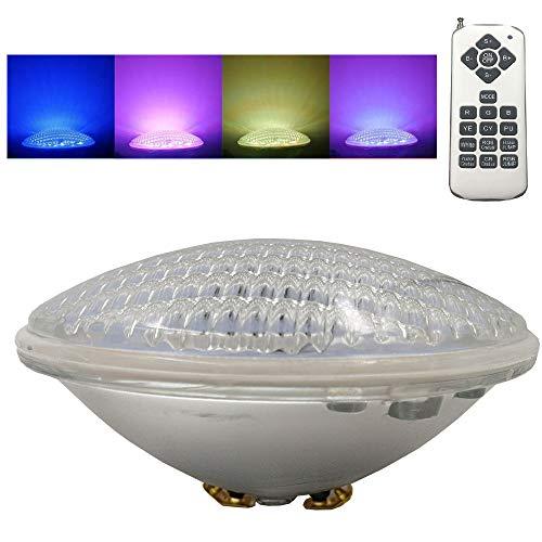 Monsing RGBW Schwimmbadleuchten PAR56 36W LED Poolbeleuchtung Einhänge Unterwasser ersatz 300W Halogen Scheinwerfer DC/AC 12V