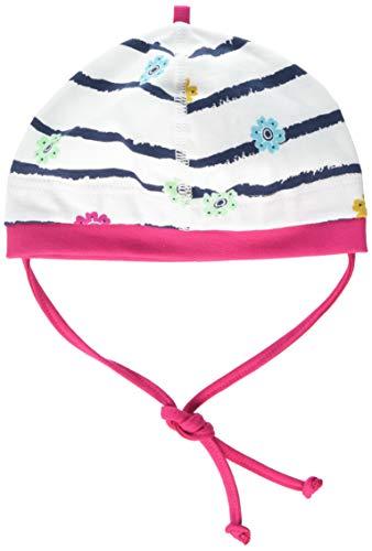 maximo Baby-Mädchen Jerseymütze Mütze, Mehrfarbig (Wollweiß-Bunte Blumen 31), 39