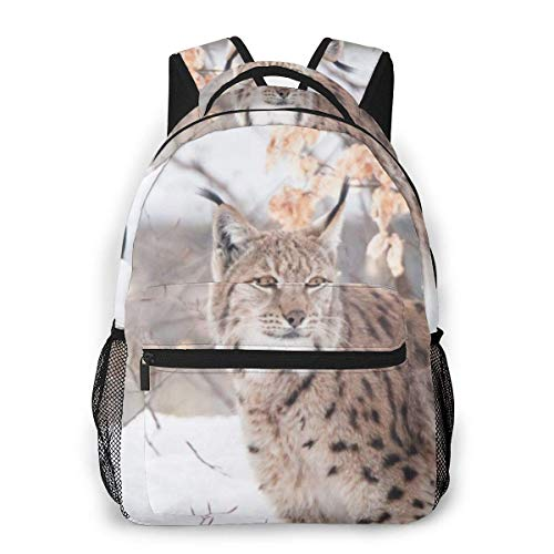 College Backpack Lynxes 1 Men and Women Casual Style Canvas Backpack School Bag,