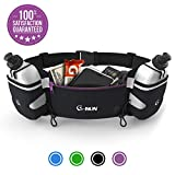 Hydration Running Belt With Bottles - Water Belts For Woman And Men - IPhone Belt For Any Phone Size - Fuel...