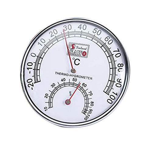 lossomly Sauna Hygrometer Thermometer Sauna Thermo Hygrometer Temperatur Luftfeuchtigkeitsmesser 2 In 1 Mit Metall Schale Hitzebeständig Für Häuser Büros Workshops