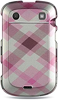 Insten Rubberized Hard Snap-in Case Cover Compatible with BlackBerry Bold Touch 9900/9930, Pink/White