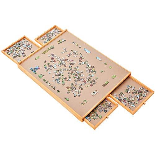 SSZZ Puzzle Aufbewahrungsbrett Schublade Typ Massivholz Erwachsenen Puzzle Aufbewahrung Bodenplatte Zubehör Puzzle Puzzle Tray Tisch 89 * 65,6 cm