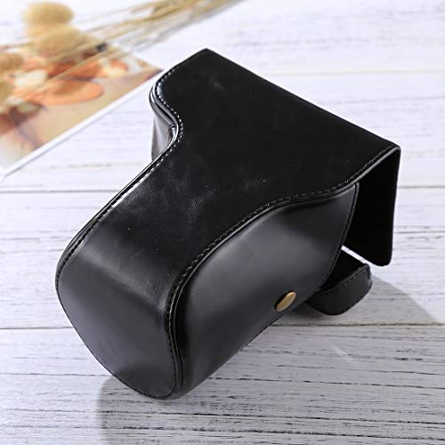 SHANGYA HH-Full-Body Kameratasche aus PU-Leder mit Gurt für Fujifilm X-E3 (18-55 mm/XF 23 mm Objektiv) (Farbe: Kaffeebraun)