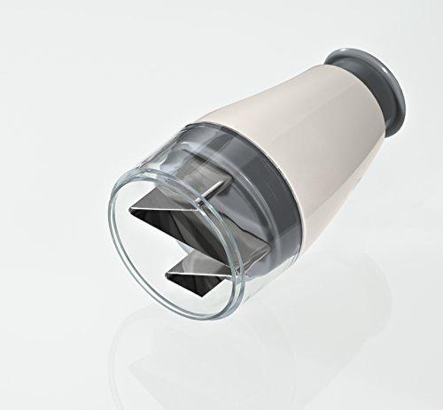 Lurch 221440 Minihacker für Knoblauch aus Kunststoff und Edelstahl, Iron Grey/Weiߟ, 7 x 14 cm