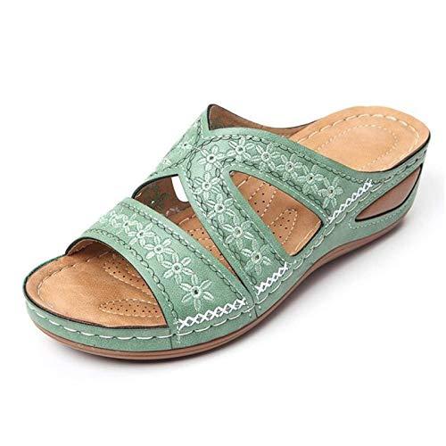 AMYGG Dr.Care Premium Sandali ortopedici con Piattaforma Spessa di Grandi Dimensioni, Pantofole estive Ortopediche Comode da Donna, Pantofole estive da Viaggio in Spiaggia (D,43)