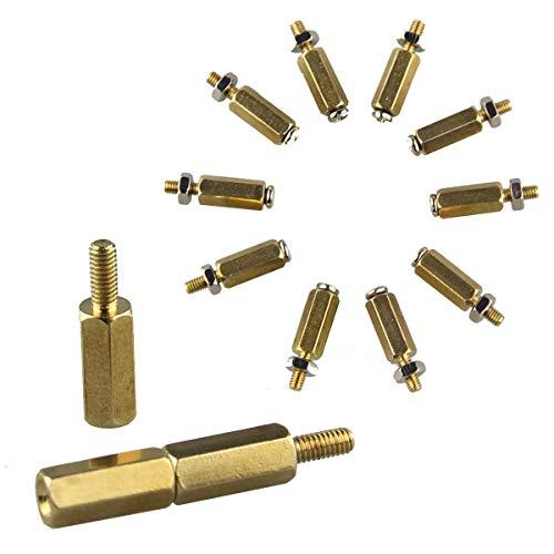 weichuang Accesorios electrónicos 5sets DIY 11mm Cilindro hexagonal de latón + tornillo...
