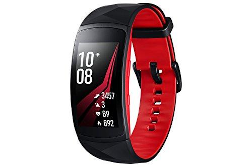 "SAMSUNG Gear Fit 2PRO–Bracciale Fitness da 1,5"" (4GB, 1GHz, 0,5GB di RAM, Tizen), Resistente all'Acqua"