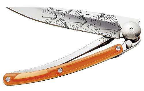 deejo Taschenmesser 27g Uni Colors Tattoo 27 g Symmetry Couteau de Poche, Multicolore, Taille Unique Mixte, Mehrfarbig, M