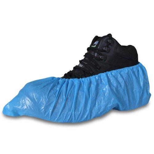 500pezzi blu copriscarpe monouso per scarpe e stivali per proteggere pavimenti e tappeti–Comes with Tch anti-bacterial Pen.