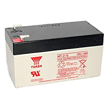 Yuasa NP1.2-12 12V/1.2AH Sealed Lead Acid Battery with F1 Terminal