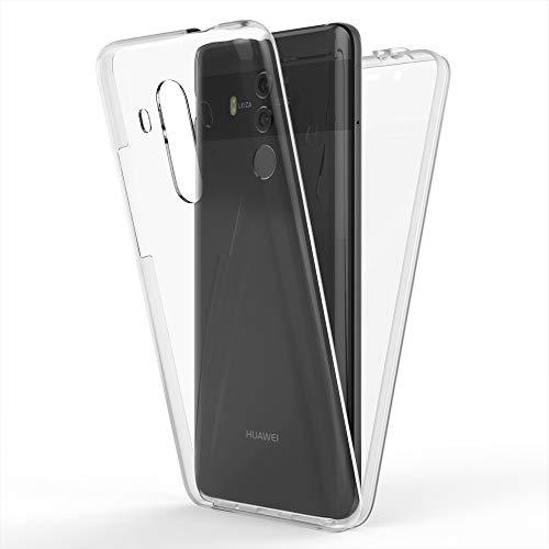 NALIA Custodia Integrale compatibile con Huawei Mate 10 Pro, Fronte & Retro Cover Protettiva con Vetro Temperato, Sottile Grip Bumper Case Cellulare Protezione Pelle per Telefono, Colore:Trasparente
