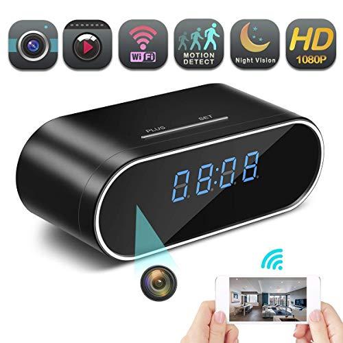 Lowest Price! Hidden Spy Camera Wireless Hidden, 4K Clock Hidden Cameras Wireless IP Surveillance An...