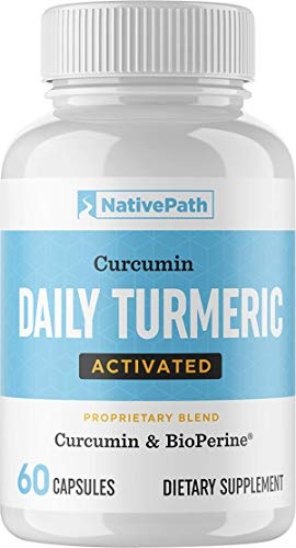 NativePath - Daily Activated Turmeric (60-Count) - 30-Day Supply - 1200+ Mg of Turmeric Per Serving - Curcumin and Piperine for Max Absorption - Up to 2,000% More Bioavailable