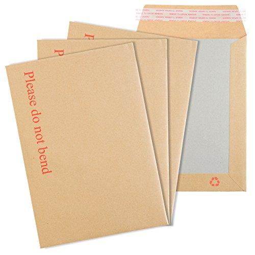 """simplifypackaging® C6/A6114mm x 162mm Manila stark Hard Karte Board schälen und Siegel Briefumschläge mit Aufdruck """"Please do not bend"""" C6 Manilla"""