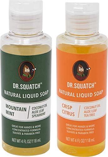Dr Squatch Natural Liquid Soap Crisp Citrus 4 oz Mountain Mint 4 oz 2 pack product image