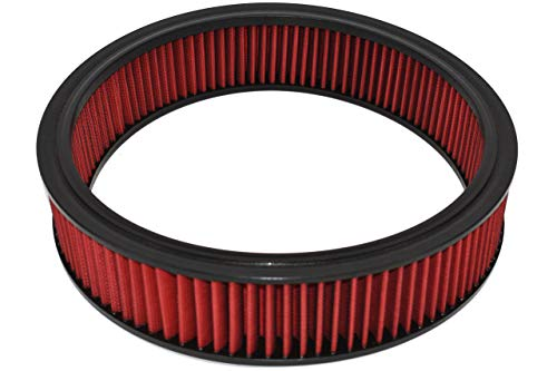 A-Team Performance Air Filter Element Air Cleaner High Flow Replacement Washable and Reusable Round Cotton Fiber Compatible with Buick Chevrolet GMC Ford Mopar Oldsmobile Pontiac (14X3)