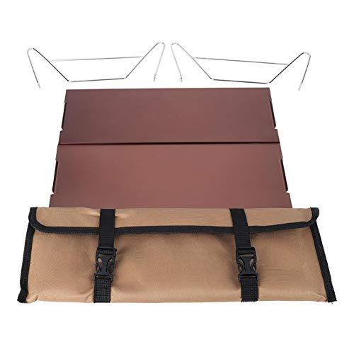 LeKu Mesa Plegable - Mesa de Picnic portátil de Metal Desmontable para...
