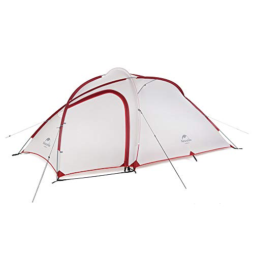 Naturehike 正規店 ネイチャーハイク Hiby 3 アップグレード版 2-3人 超軽量 自立式 テント グランドシート付き 広い前室 二層構造 キャンプ アウトドア 登山 防雨 防風 防災(グレー+赤20D)