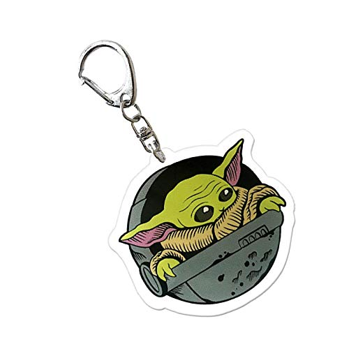 arbitra Star Wars Baby Yoda Keychain Pendant, Suitable For Christmas Tree, Backpack, Car Keychain, Decorative Pendant Ornaments