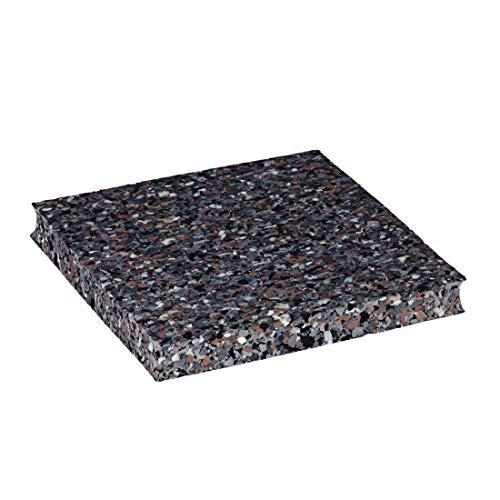 Xavax Antivibrationsmatten Zuschnitte (4er-Set Antirutsch-Pads 10 x 10 cm, Gummimatte für Waschmaschinen und Trockner, Antivibration Gummi-Unterlage) grau