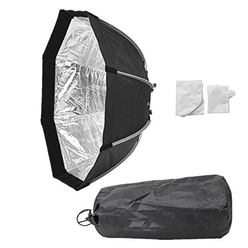 QWERTOUY 55cm Draagbare Bowens Mount Octagon Paraplu Softbox Voor Foto Studio Flash DE300 400 SK400 II Outdoor Fotografie Soft Box
