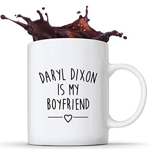 N\A Taza de café de cerámica Daryl Dixon de The Walking Dead para Mujer, Regalos Personalizados de 11 oz, impresión Lateral Sensible al Calor