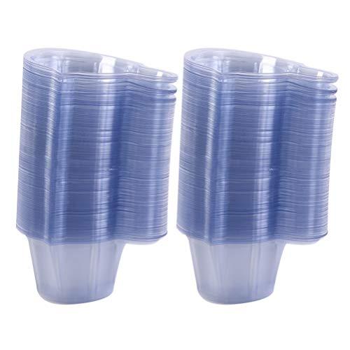 EXCEART 250 Stücke Einweg Urinbecher Urinprobenbecher Probenbecher Transparente Urin Becher Plastik Messbecher für Schwangerschaftstest Ovulationstest PH Test 40ml