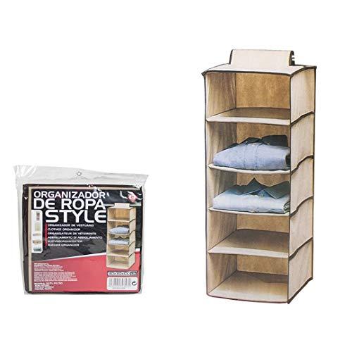 Dabuty Online, S.L. Organizador para Colgar en el Armario u hogar con 5 estantes. Medidas 30 x 30 x 100 cm. Zapatero, Organizador de Ropa.