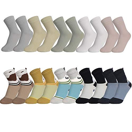 Pack de 10 calcetines tobilleros