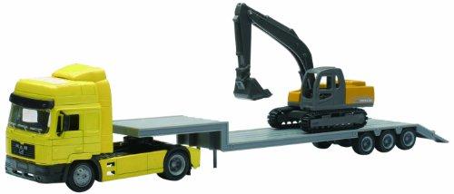 New Ray - 15483 - Véhicule Miniature - Modèles À L'échelle - Camion Man F2000 - Transport Pelleteuse - Echelle 1/43