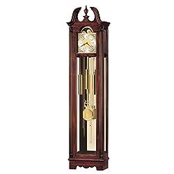 Howard Miller King Floor Clock 540-025 – Windsor Cherry Vertical Home Decor & Brass Pendulum with Quartz, Dual-Chime Movement