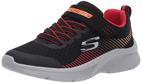 Skechers Kids Boys' MICROSPEC-GORZA Sneaker, Black/Red, 10 Medium US Toddler