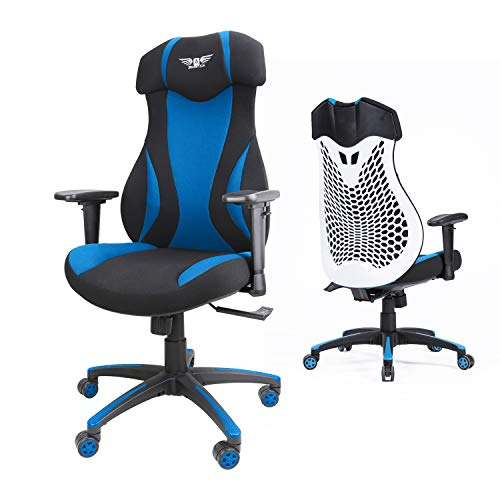 Acethrone Gaming Chair Racing Chairs, High Back Chair for Adults with Ergonomic Design, Task Chair with Adjustable Headrest and Armrest, Comfort Lumbar Support, Suitable for Office/Game room (Blue)