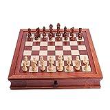 Cxcdxd Juego de ajedrez Internacional magnético de Madera con...