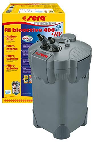 Sera 30605Fil Bioactive 400+ UV–Filtro Exterior para Acuario hasta 400L con Integrado 5W UV de c (Reduce Enfermedad gérmenes, parasiten y Algas Crecimiento)