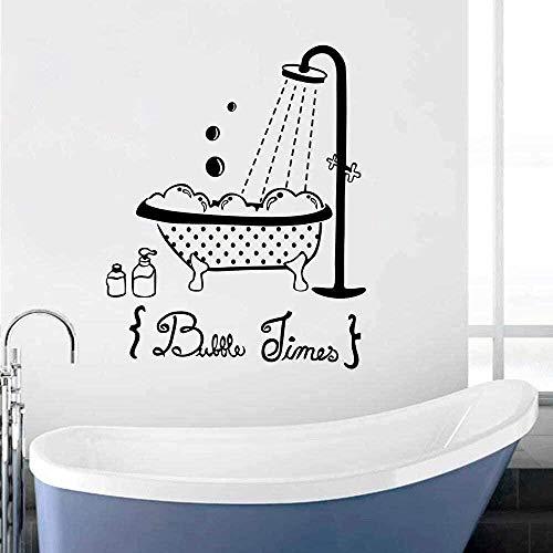Muursticker PVC Verwijderbare Muurtattoo Badschuim Weer Badkamerdecoratie Kinderen Baby Shower Design Badkamer Raam Poster 57X71cm