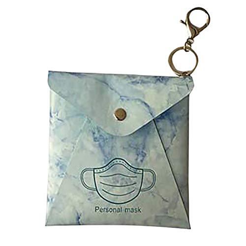 Barlingrock 1/2er Pack Maskenetui und tragbare Maskenaufbewahrungstasche - Maskenbox Masken Organizer für oder Staubmasken Aufbewahrungsbox für Maske (ohne Maske)