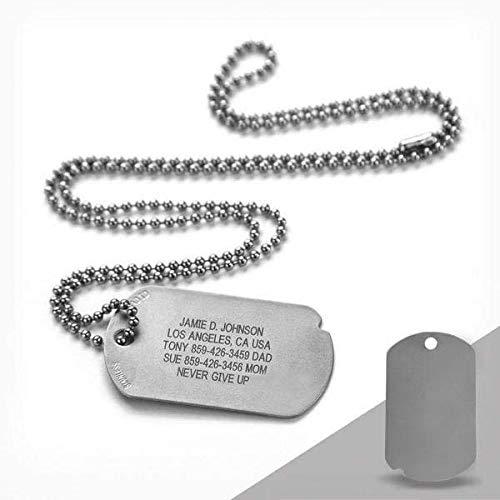 Road ID Custom Military Dog Tag - The Fixx ID - Sports Dog Tag ID