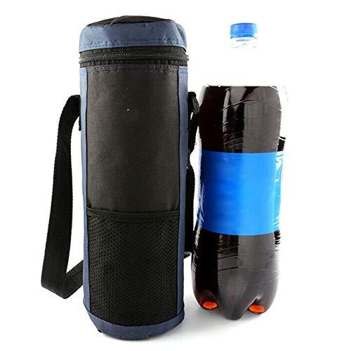 ENticerowts Housse d'isolation portable pour extérieur, voyage, pique-nique, bouteille d'eau, isolation durable, facile à transporter, bleu