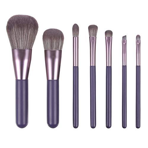 Beaupretty 7 Stks Make-Up Borstel Set Nylon Varkenshaar Handvat Draagbare Blush Poeder Make-Up Gereedschap Voor Meisjes Vrouwen (Sandelhout Paars)